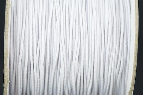 ELASTIC ROUND WHITE 1mm 100m