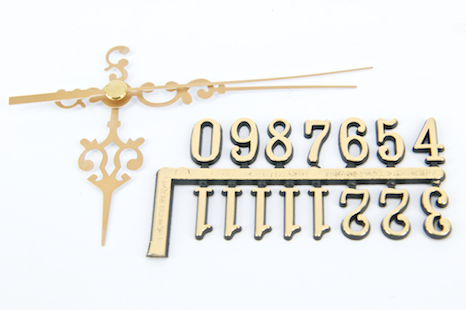 CLOCK HANDS/NUMBERS COMBO (#946/15mm) GOLD 1 SET #