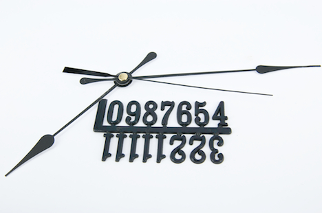 CLOCK HANDS/NUMBERS COMBO (#2080/20mm) BLACK 1 SET #