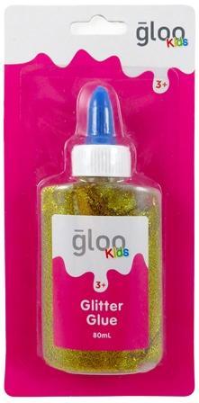 GLOO KIDS GLITTER GLUE GOLD 80mL #