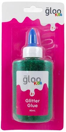 GLOO KIDS GLITTER GLUE GREEN 80mL #