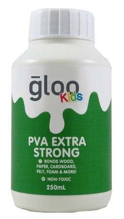 GLOO KIDS (PVA) XTRA STRONG GLUE W/SPREADER 250mL #