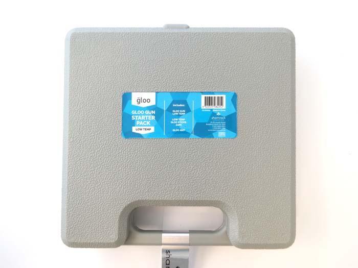 Case Blue Mini Pack : Gloo glue gun mini starter pack low temp w free case # glue guns