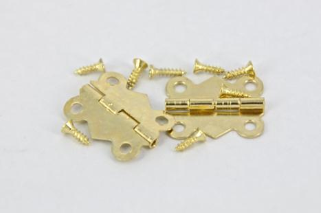 HINGE BRASS #1 GOLD 2 PC #