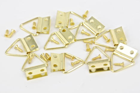 HANGER PICTURE BRASS LGE 10 PC #