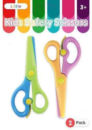 LITTLE KIDS SAFETY SCISSORS 2 PC