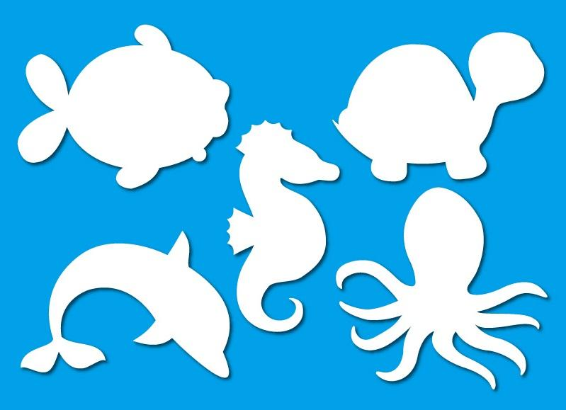 PAPER CUT OUT SHAPES SEA LIFE 15 PC/PKT - PAPERCRAFT, SHAPES - Product ...