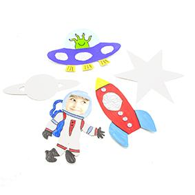 LITTLE PAPER SHAPES OUTER SPACE 30 PC ^