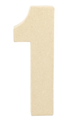 PAPER MACHE NUMBER #1 - 20CM 1 PC #
