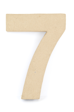 PAPER MACHE NUMBER #7 - 20CM 1 PC #