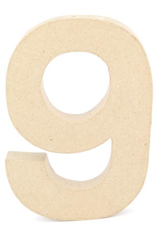 PAPER MACHE NUMBER #9 - 20CM 1 PC #