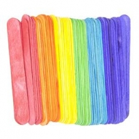 LITTLE WOOD CRAFT STICKS JUMBO COLOURED 60 PC - Click for more info