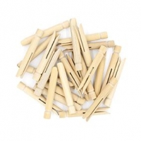 LITTLE WOOD PEGS DOLLY  MINI NATURAL 24 PC ^ - Click for more info