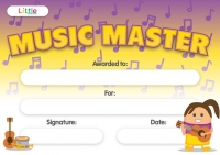 LITTLE CERTIFICATE MUSIC MASTER A5 10 PC - Click for more info