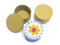 LITTLE PAPER MACHE MINI BOX ROUND 6 PC - Click for more info