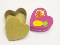 LITTLE PAPER MACHE MINI BOX HEART  6 PC - Click for more info