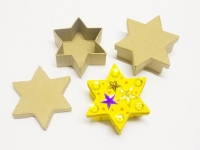 LITTLE PAPER MACHE MINI BOX STAR  6 PC - Click for more info