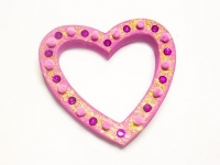 PAPER MACHE OPEN HEART 1 PC - Click for more info
