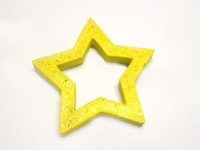 PAPER MACHE OPEN STAR 1 PC - Click for more info
