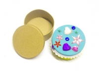 LITTLE PAPER MACHE MINI BOX ROUND 1 PC - Click for more info