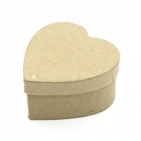 LITTLE PAPER MACHE MINI BOX HEART 1 PC - Click for more info