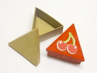LITTLE PAPER MACHE MINI BOX TRIANGLE 1 PC - Click for more info