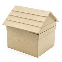 LITTLE PAPER MACHE BOX HOUSE 1 PC - Click for more info