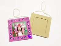 LITTLE PAPER MACHE FRAME SQUARE HANGING 1 PC - Click for more info