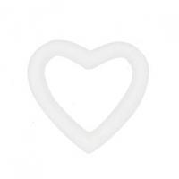 LITTLE DECOFOAM WREATH HEART 135mm 1 PC - Click for more info