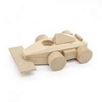 LITTLE BUILD IT WOOD RACING CAR 1 PC ^ - Click for more info
