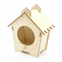 LITTLE 3D WOOD BIRD HOUSE 1 PC ^ - Click for more info