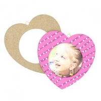 LITTLE WOOD FRAME HEART LG 2 PC - Click for more info