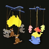LITTLE WOOD MOBILE AUSTRALIANA / UNDERSEA 2 PC ^ - Click for more info