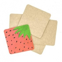 LITTLE WOOD COASTER SQUARE 5 PC ^ - Click for more info