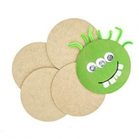 LITTLE WOOD COASTER ROUND 5 PC ^ - Click for more info