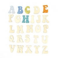 LITTLE WOOD ALPHABET UPPERCASE 26 PC ^ - Click for more info