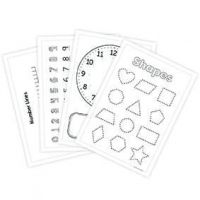 LITTLE PUPIL POCKET ACTIVITY SHEETS MATHS 8 PC - Click for more info