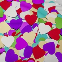LITTLE SEQUIN HEART MUTLI 37MM 50 GM ^ - Click for more info