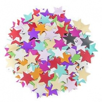 LITTLE SEQUIN STAR MULTI 25MM 50 GM ^ - Click for more info