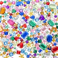 LITTLE RHINESTONES MULTI 50 GM ^ - Click for more info