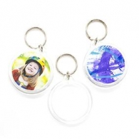 LITTLE KEY TAG ROUND CLEAR 50mm 5 PC - Click for more info