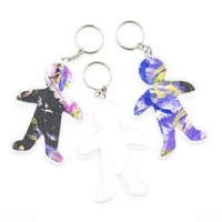 LITTLE KEY TAG PERSON CLEAR 80mm 5 PC - Click for more info