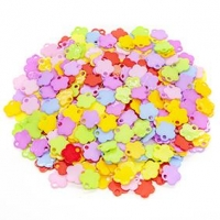 LITTLE BEADS PLASTIC FLOWERS 100 GM - Click for more info