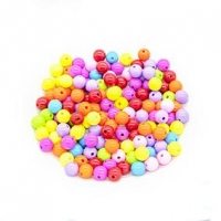 LITTLE BEADS PLASTIC ROUND 75 GM - Click for more info
