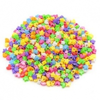 LITTLE BEADS PLASTIC MULTI 100 GM ^ - Click for more info