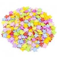 LITTLE BEADS PLASTIC STARS 100 GM - Click for more info