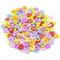 LITTLE BEADS PLASTIC HEARTS 100 GM ^ - Click for more info