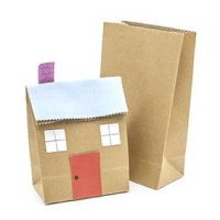 LITTLE PAPER BAG BROWN 140 X 90MM 10 PC ^ - Click for more info