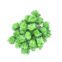LITTLE POM POMS GLITTER GREEN 18mm 50 PC - Click for more info