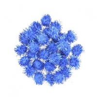 LITTLE POM POMS GLITTER BLUE 18mm 50 PC - Click for more info